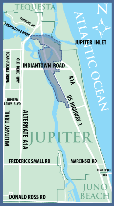 Map Of Florida Showing Jupiter.Boundaries Jupiter Fl Official Website