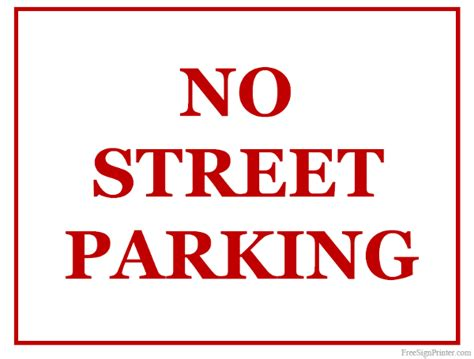 no st parking