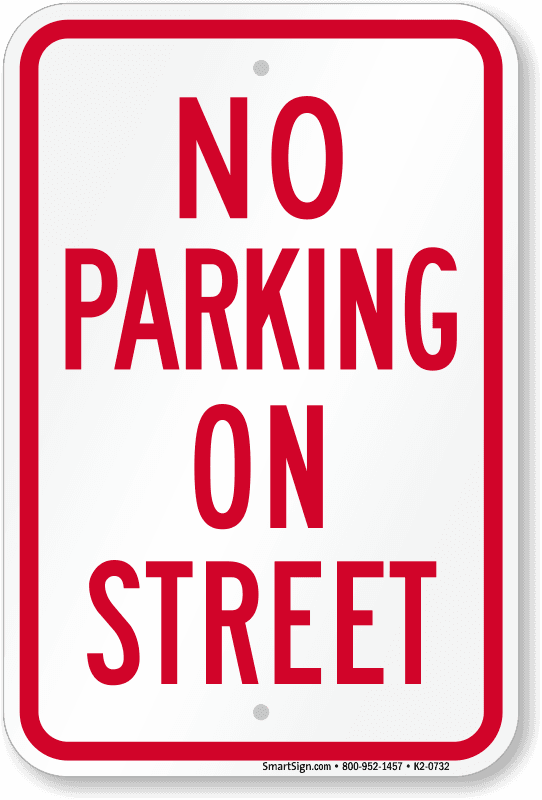 no-parking-on-street-sign