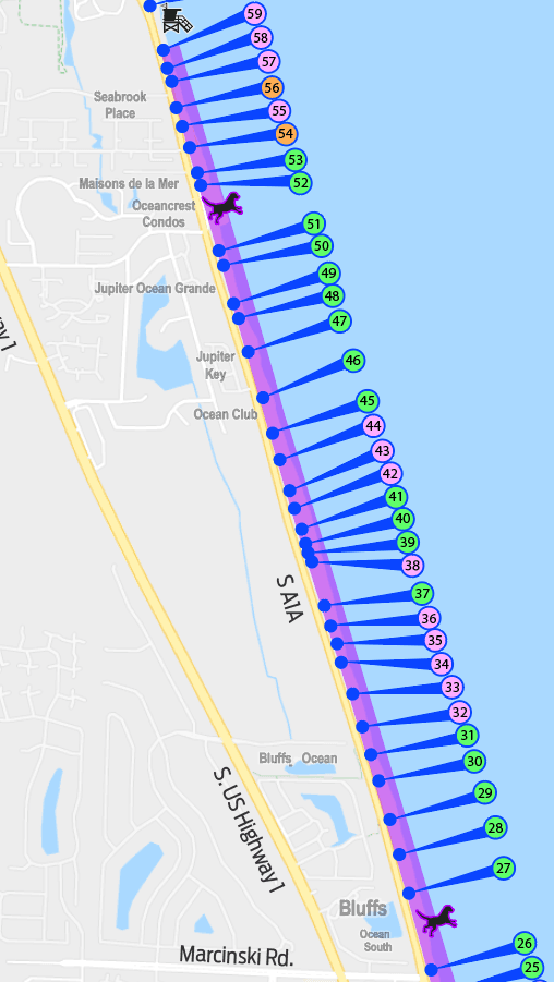 Map Jupiter Florida.Jupiter S Dog Friendly Beach Jupiter Fl Official Website