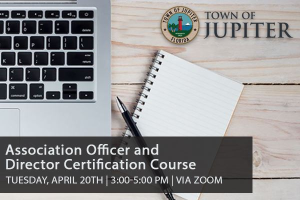association officer director certification Course 4/20/2021