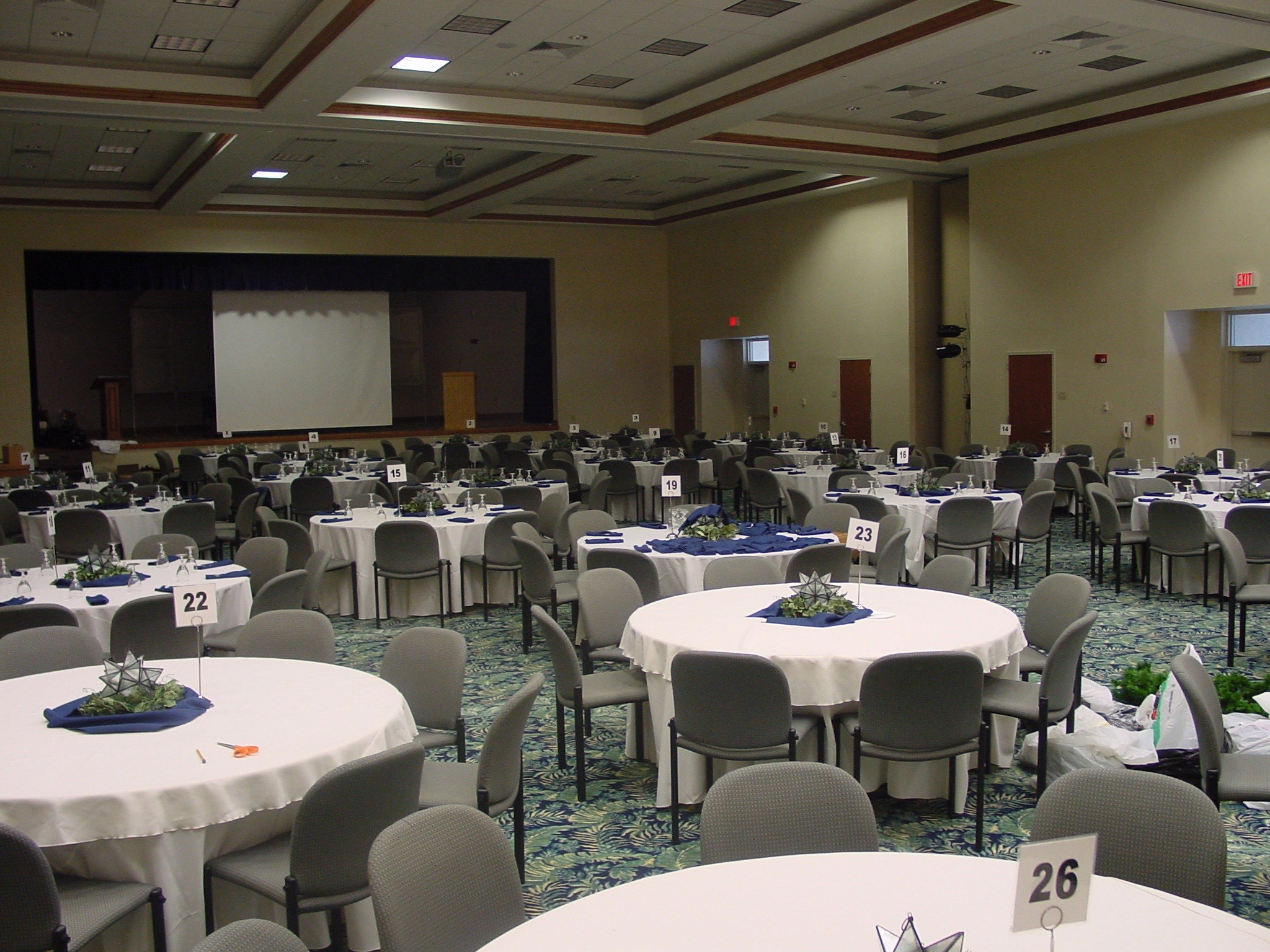Community Center Auditorium Banquet