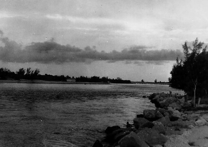 Looking west from north side jupiter inlet Late 40