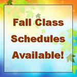 Fall Class Schedules Available