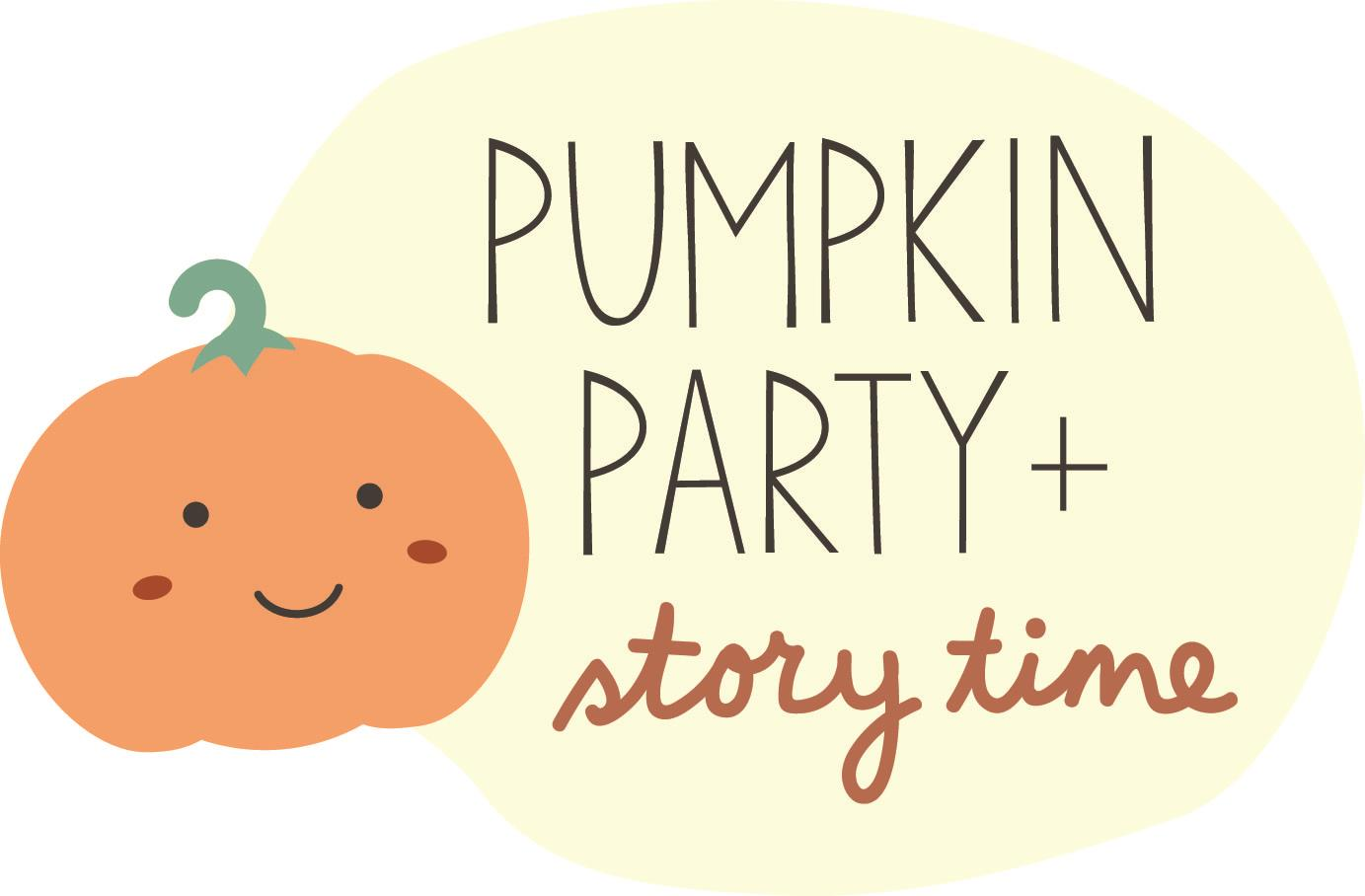 Pumpkin Party Storytime Logo